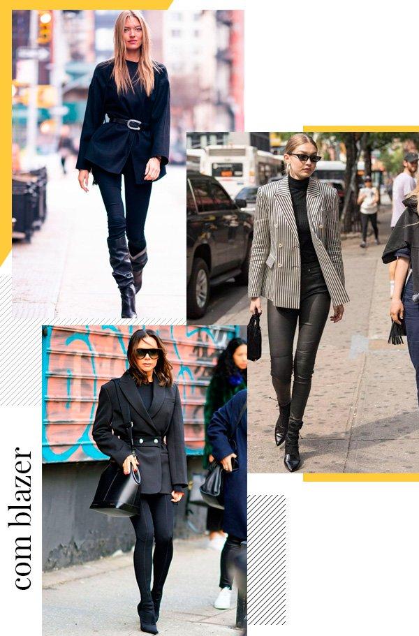 Martha Hunt, Gigi Hadid, Victoria Beckham - legging - legging - inverno - street-style