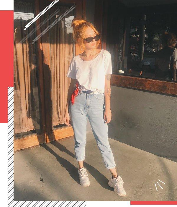 Ali Santos - jeans e camiseta - basico - meia-estação - street style