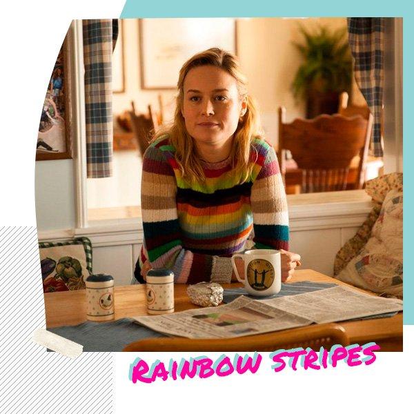 Brie Larson - trico-listrado - listras - inverno - set