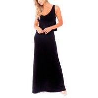 Vestido Regata Amamentação Longo Cris – Preto