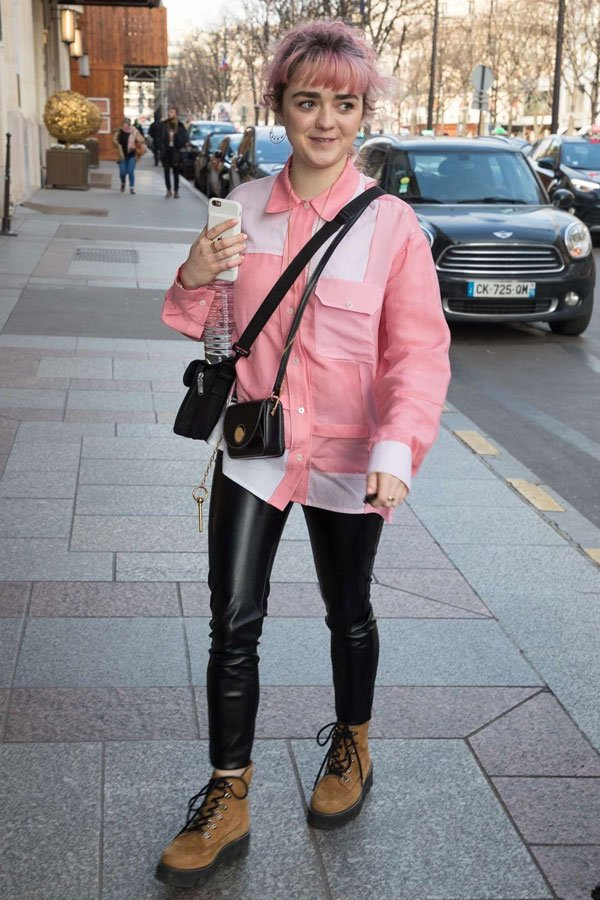 Maisie Williams -      - game of thrones - meia-estação - street style