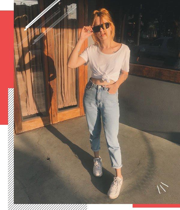 Ali Santos - jeans e camiseta - básico - meia-estação - street style