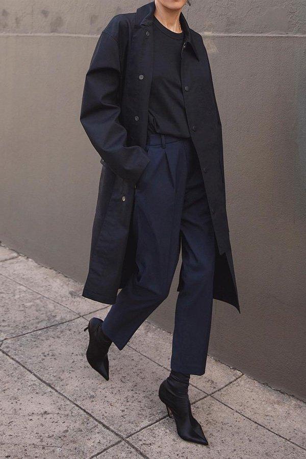 Petra - calça de alfaiataria e blazer - botas no office - inverno - street style