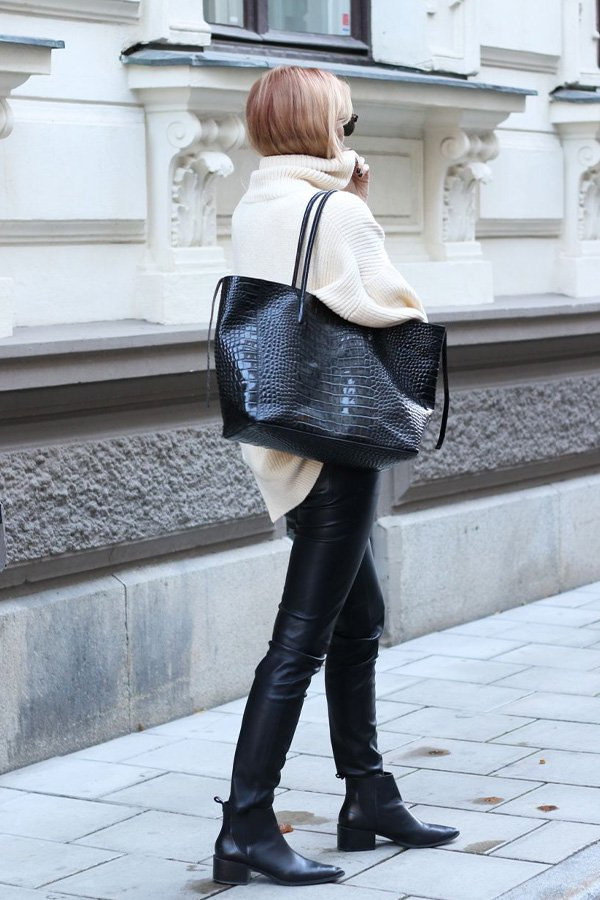 reproduction pinterest - bag - croco - winter - street style