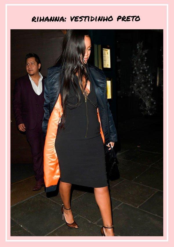 Rihanna - vestido-preto - vestidos - outono - street-style