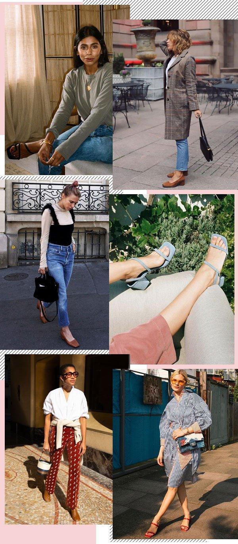 Monikh Dale, Courtney Trop, Christina Caradona, Pandora Sykes, Tamu Mcpherson - square toe - bico quadrado - meia-estação - street style