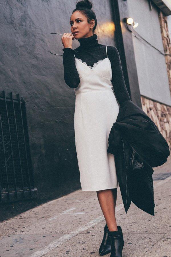 Taye Hansberry - vestido - slipdress - outono/INVERNO - street style