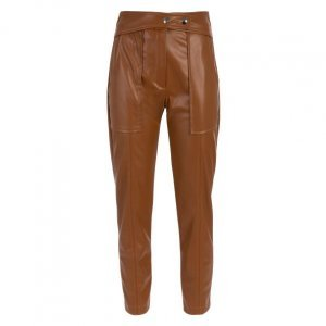 Calça Slim Leather Recortada