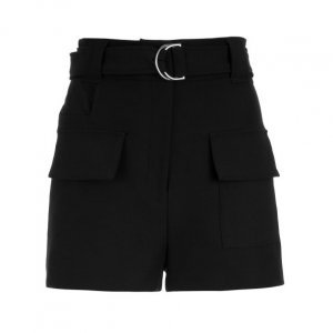 Shorts Bolsos Frontais E Cinto