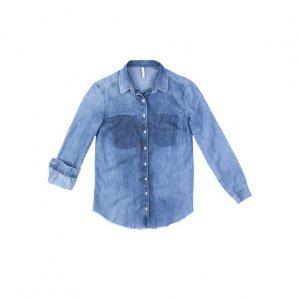 Camisa Jeans Com Detalhes Em Lavação