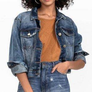 Jaqueta Jeans Em Algodão Com Detalhes Destroyed