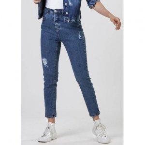 Calça Jeans Feminina Mom Cintura Alta