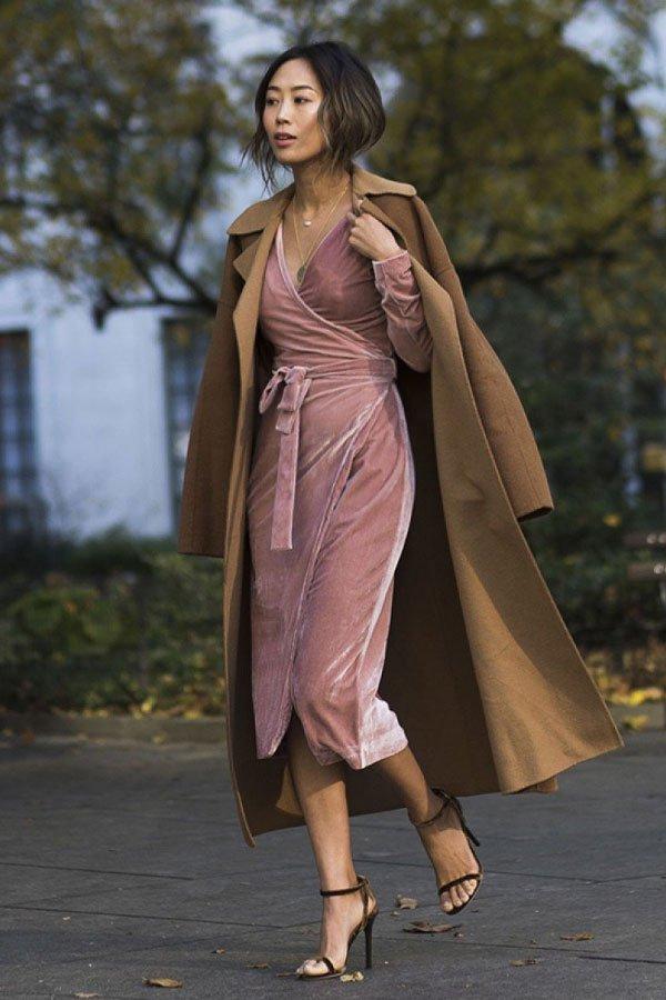 Aimee Song - vestido e casaco - vestidos no inverno - inverno - street style