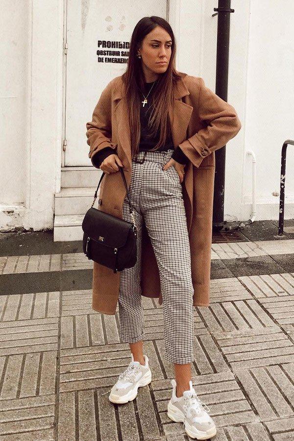 Ana Rey - casaco e calça - camel coat - inverno - street style