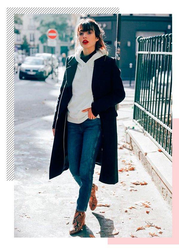 Louise Follain - moletom - batom-vermelho - inverno - street-style