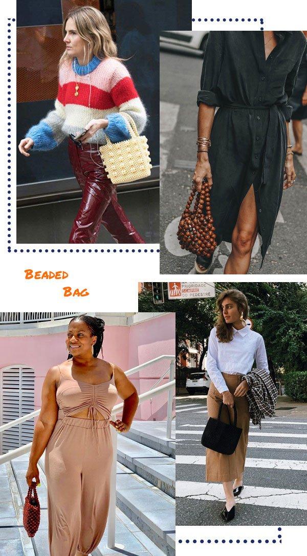 Isabella Aredes - bolsa beaded - beaded bag - inverno - street style