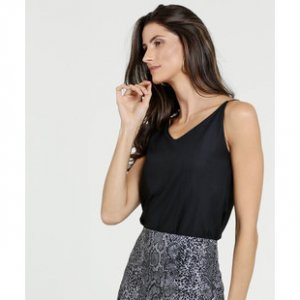Blusa Feminina Textura Alças Finas Marisa