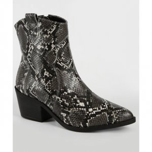 Bota Feminina Country Cano Curto Animal Print Marisa