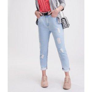 Calça Feminina Mom Jeans Puídos Marisa