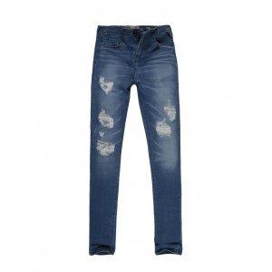 Calça Jeans Feminina Destroyed Com Renda