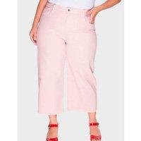 calça pantacourt plus size - rosa-46