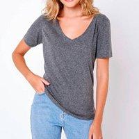 Camiseta Lisa Super Premium Camys Salva Looks Gola V