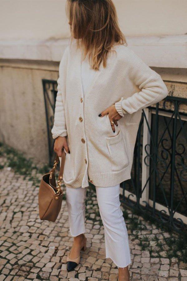 Catarina Pereira - tricot cardiga - tricot - inverno - street style
