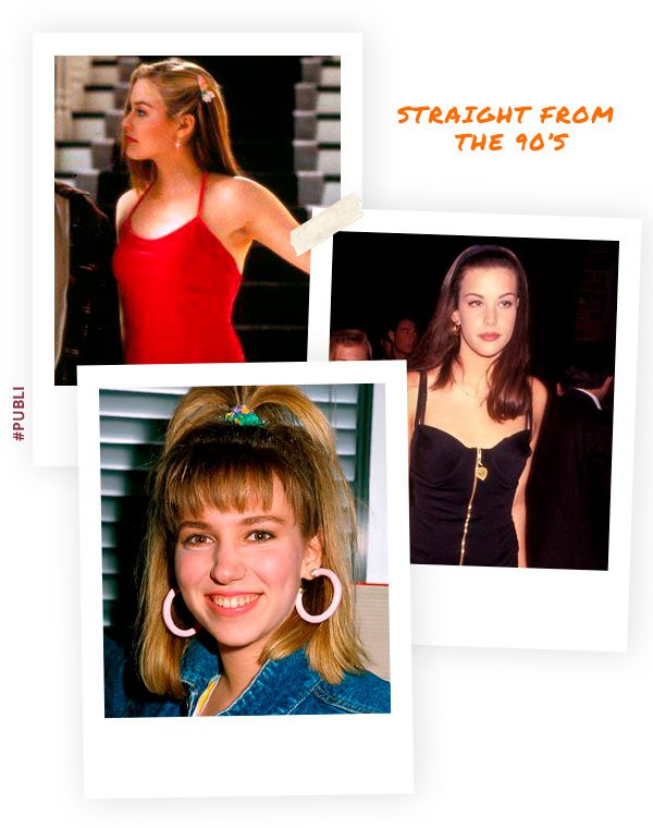 Alicia Silverstone, Liv Tyler - cabelo - 90s - inverno - street-style