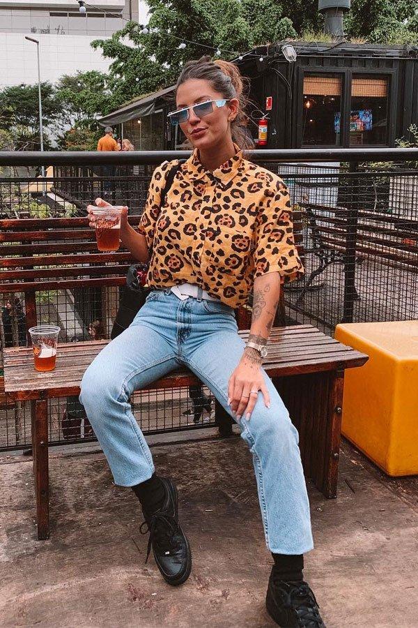 Giordana Serrano - camisa e calça - camisa de manga curta - meia-estação - street style