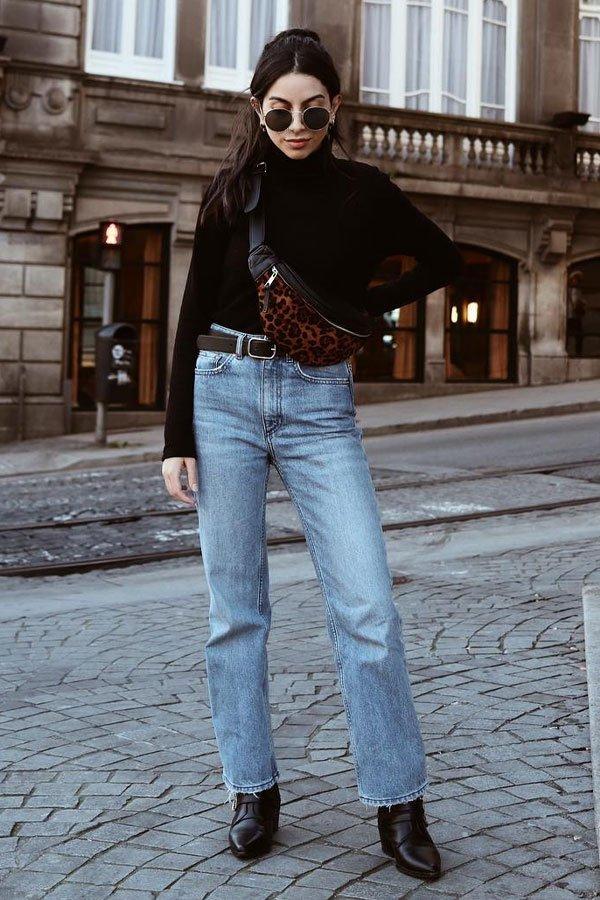 helena martins - calça jeans e turtleneck - turtleneck - inverno - street style