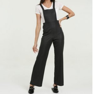 Jardineira Feminina Listrada Pantalona Marisa