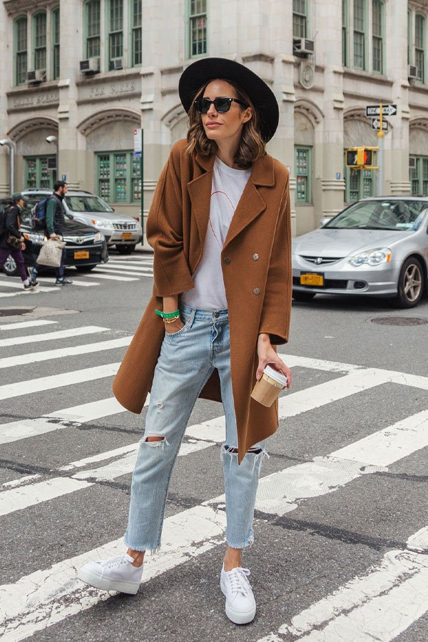 Louise Roe - jeans e casaco - camel coat - inverno - street style