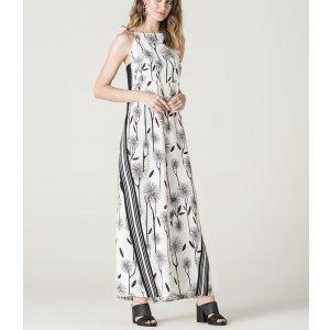 Macacão Pantalona Floral Com Alça Fina