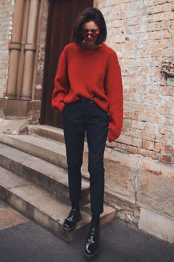 Petra - calça skinny e tricot - tricot - inverno - street style