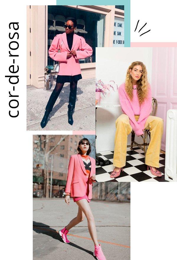 Chrissy Rutherford, Emili Slindev, Natalie Lim Suarez - rosa - preppy - inverno - street-style