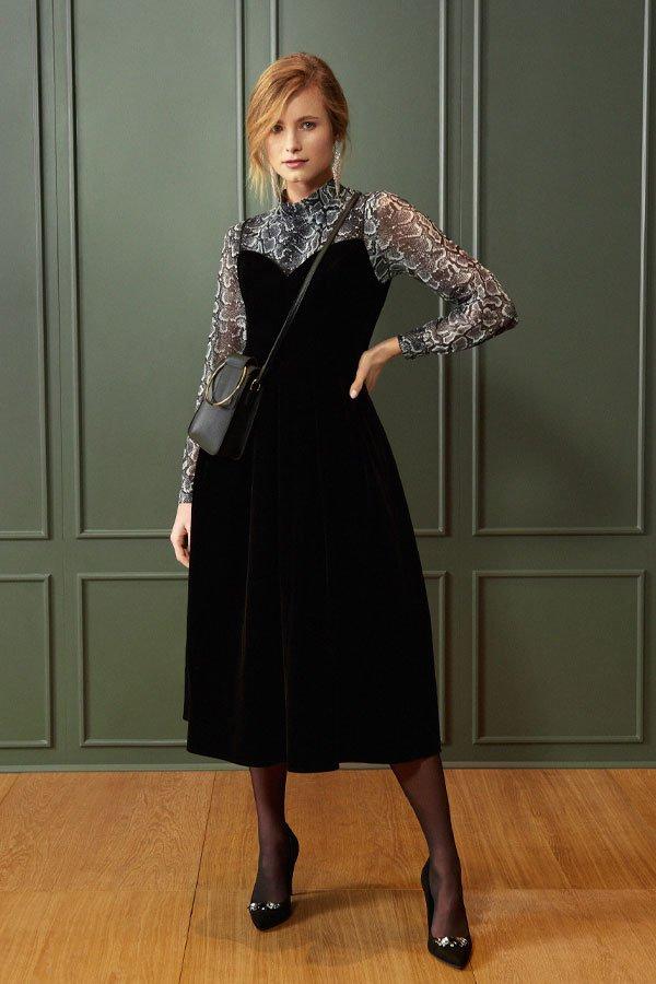 reprodução pinterest - vestido e segunda pele - vestidos no inverno - inverno - street style