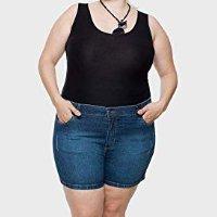 Shorts Jeans com Elástico Plus Size