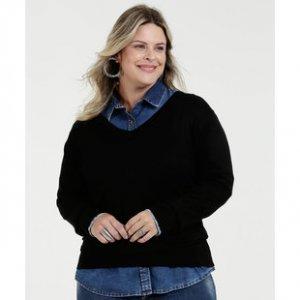 Suéter Feminino Decote V Plus Size Marisa