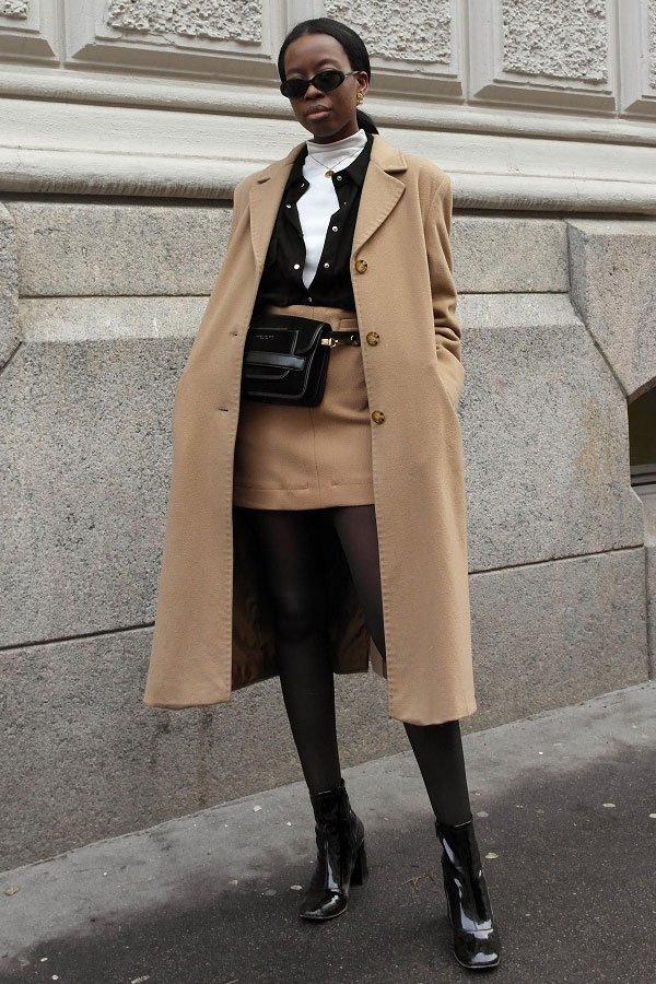 Sylvie Mus - casaco e saia - camel coat - inverno - street style