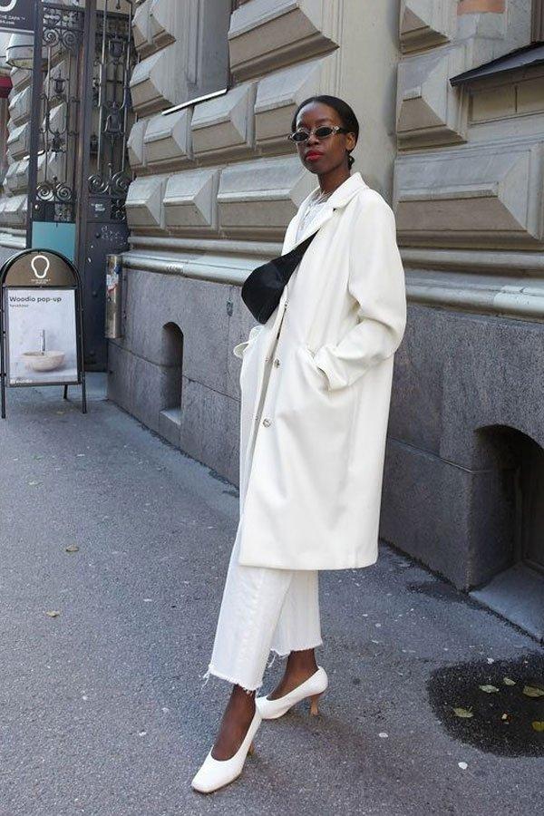Sylvie Mus - square toe - jeans branco - meia-estação - street style