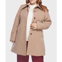 casaco feminino 7/8 plus size - bege-50
