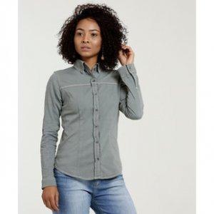 Camisa Feminina Sarja Stretch Manga Longa Disparate