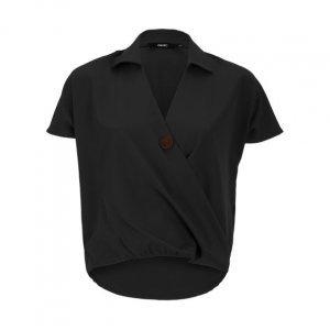Camisa Transpassada Botão Frontal