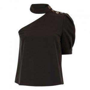 Blusa Ombro Único Com Botões