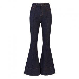 Calça Jeans Flare Detalhe De Nervura