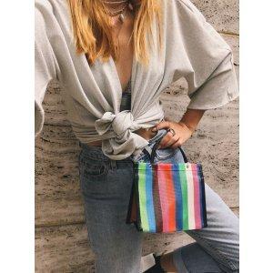 Mini Bolsa De Feira - U Multicolorido