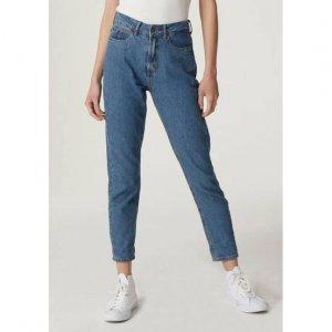 Calça Jeans Feminina Na Modelagem Mom Jeans