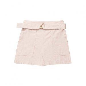 Shorts Feminino Cintura Alta Com Cinto