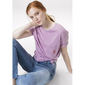 T-Shirt Em Malha De Algodão Com Estampa Nas Costas