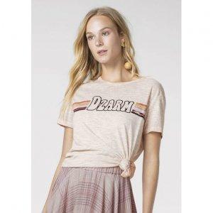T-Shirt Em Malha De Algodão Com Estampa Dzarm